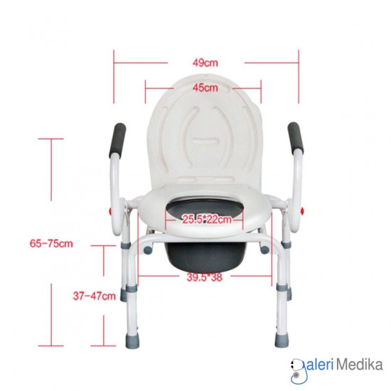 Commode Chair Serenity - FS813 (Tanpa Roda)