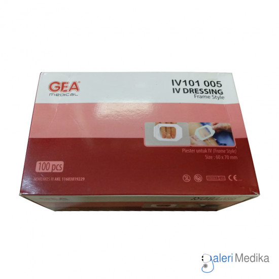 GEA IV Dressing Plester Pasca Operasi 60x70 mm - Frame Style