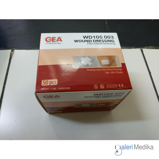 Wound Dressing WD105 003 GEA 60x70mm Plester Transparan Anti Air