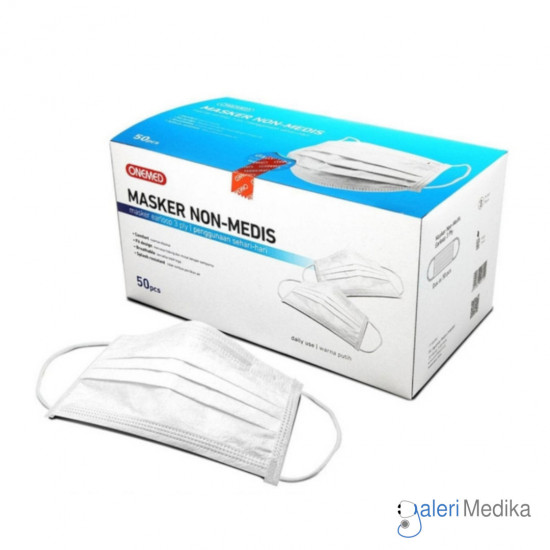 Onemed Masker Earloop Non Medis 3 ply Isi 50 pcs