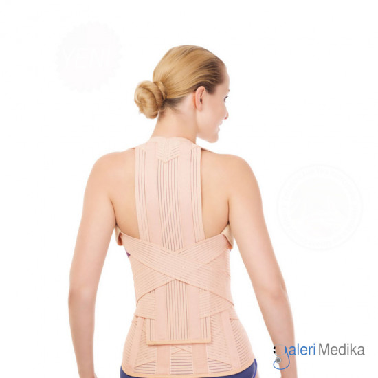 Variteks 140 Elastic Dorsolumber Corset (Height Adjustable) Korset Tulang Belakang