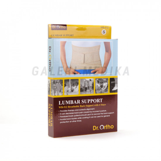 Dr. Ortho WB-512 Breathable Back / Lumbar Support with 4 stays