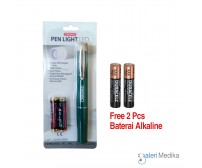 Penlight LED Onemed Hijau - FREE Baterai AAA 4 pcs